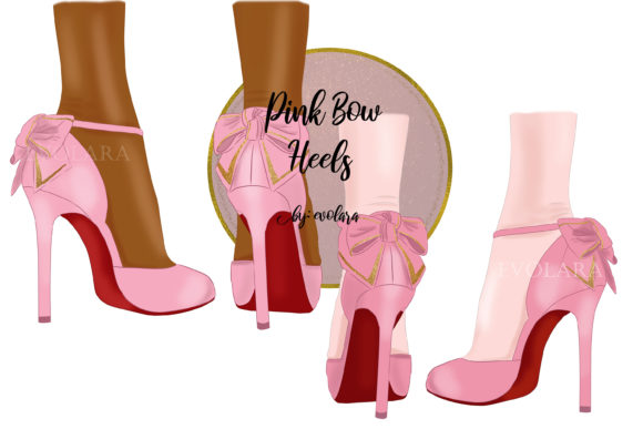 Pink High Heel Shoes Clipart Fashion Graphic Illustrations By evolara