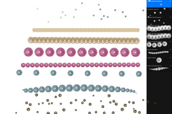 Print on Demand: Procreate Sequin Brushes for IPad Graphic Add-ons By DigitalPencilMagic - Image 2