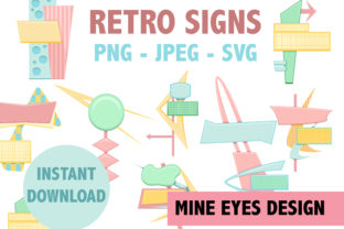 Print on Demand: Retro Signs - Mid Century Modern Design Graphic Illustrations By Mine Eyes Design