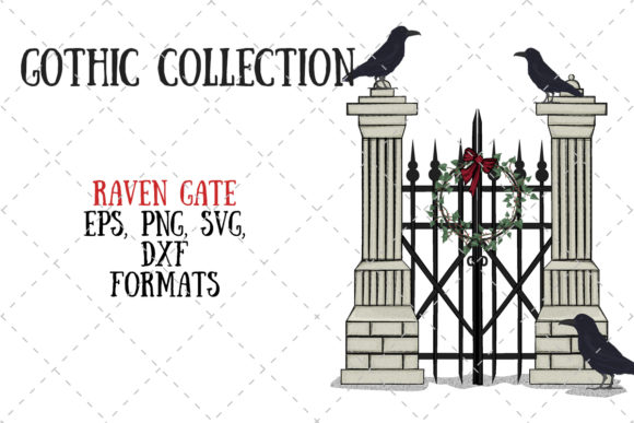Raven Gate Graphic Illustrations By My Little Black Heart