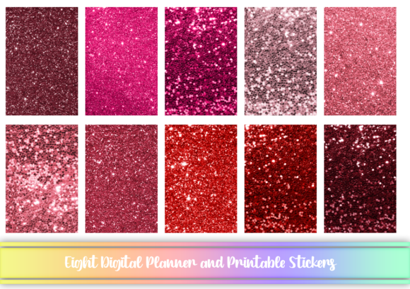 Print on Demand: Red Digital and Printable Stickers Graphic Print Templates By AM Digital Designs
