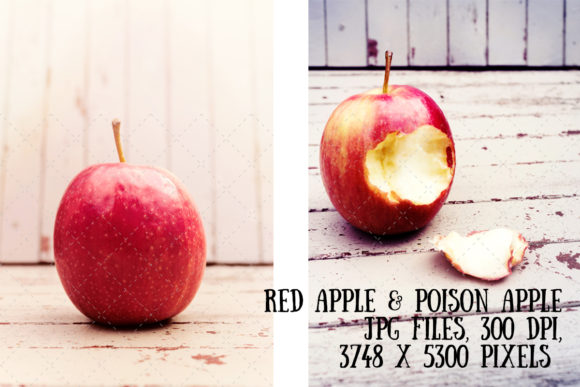 Red and Poison Apple Graphic Food & Drinks By My Little Black Heart