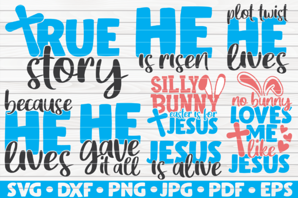 Download Free Religious Easter Bundle 8 Designs Graphic By Mihaibadea95 for Cricut Explore, Silhouette and other cutting machines.