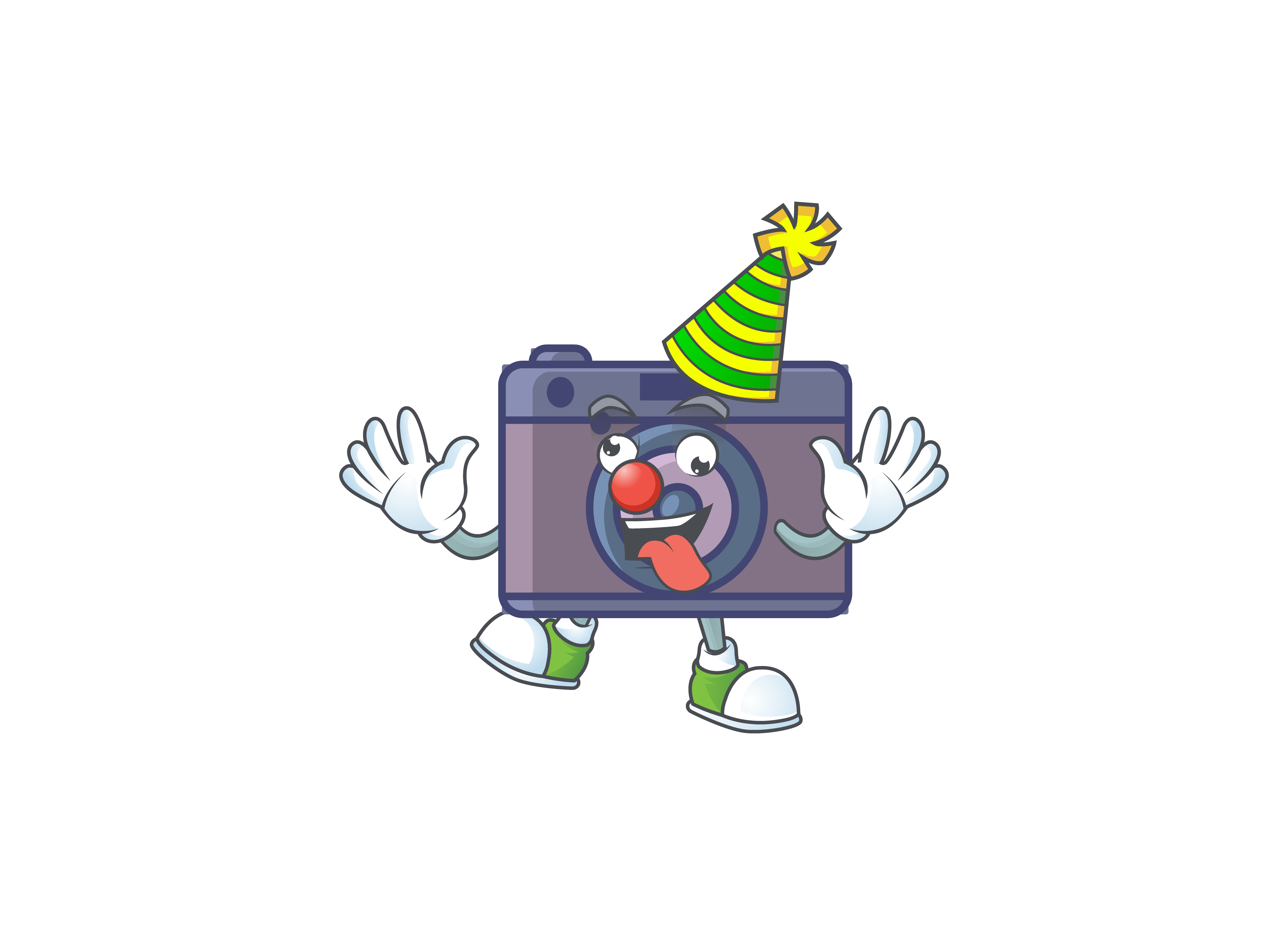 Download Free Retro Camera Cartoon Character Style Graphic By Kongvector2020 for Cricut Explore, Silhouette and other cutting machines.