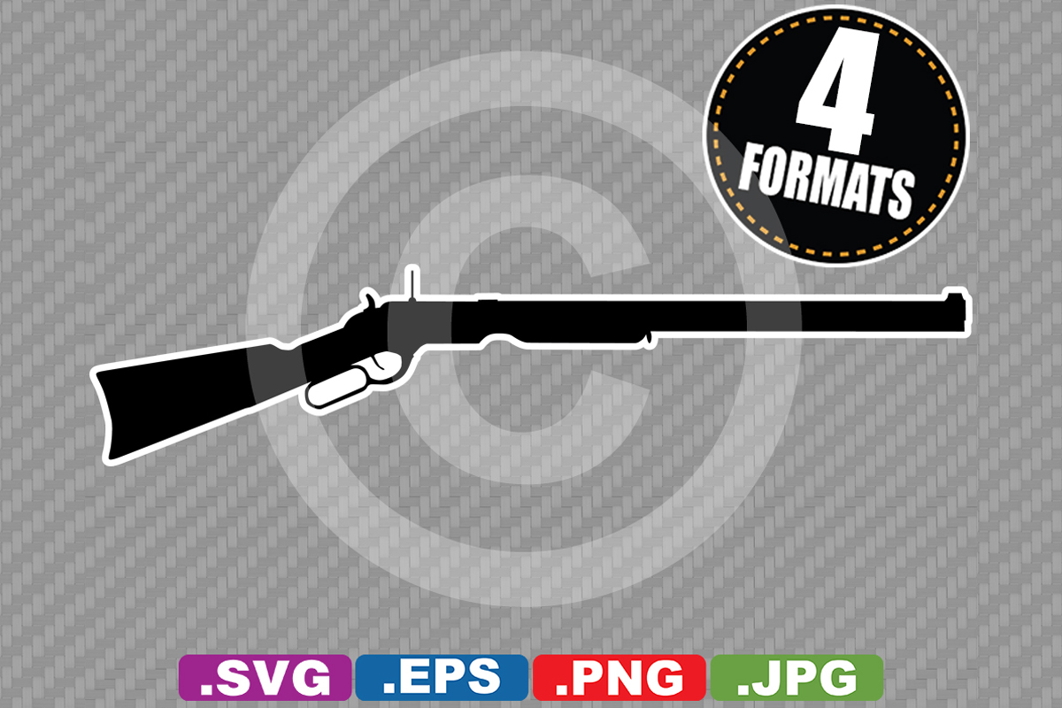 Download Free Rifle Silhouette Graphic By Idrawsilhouettes Creative Fabrica for Cricut Explore, Silhouette and other cutting machines.