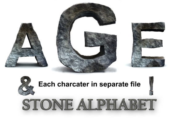 Download Free Rocky Letters Stone Alphabet Numbers Graphic By Impresstore for Cricut Explore, Silhouette and other cutting machines.