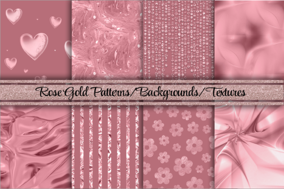 Print on Demand: Rose Gold Glamorous Backgrounds/Textures Graphic Backgrounds By AM Digital Designs