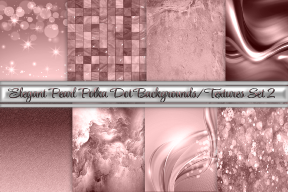 Print on Demand: Rose Gold Pink Background Textures Set 2 Graphic Backgrounds By AM Digital Designs
