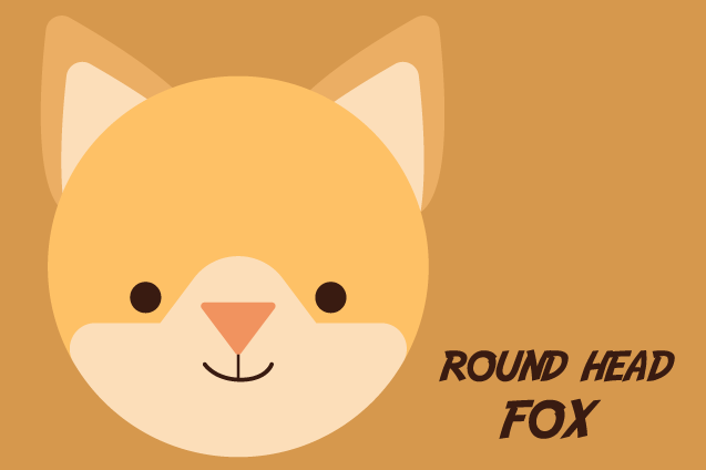 Download Free Round Head Fox Graphic By Qasas77 Creative Fabrica for Cricut Explore, Silhouette and other cutting machines.
