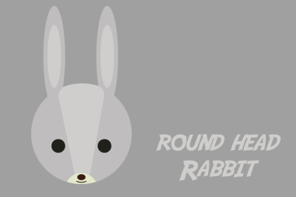 Download Free Round Head Rabbit Graphic By Qasas77 Creative Fabrica for Cricut Explore, Silhouette and other cutting machines.