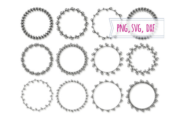 Download Free Round Elegant Frames Svg Spring Frame Graphic By Bunart for Cricut Explore, Silhouette and other cutting machines.