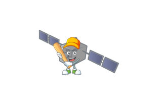 Satelite Network Cartoon Character Style Graphic Illustrations By KongVector2020