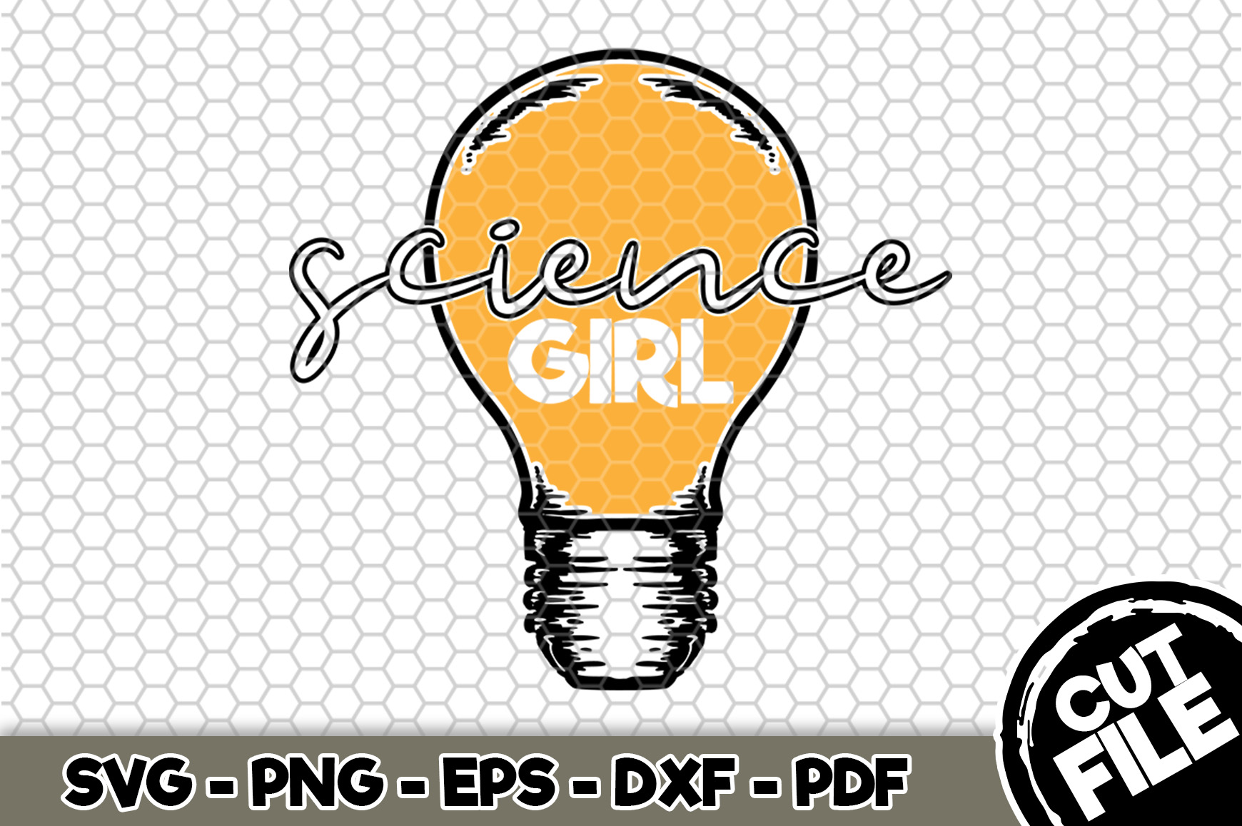 Download Free Science Girl Grafik Von Svgexpress Creative Fabrica for Cricut Explore, Silhouette and other cutting machines.