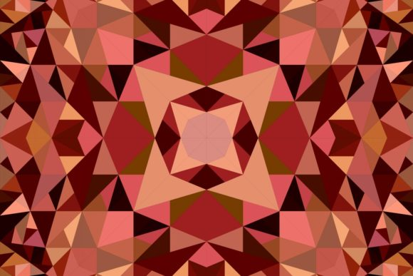 Seamless Triangle Mandala Pattern Graphic Patterns By davidzydd