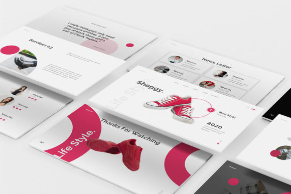 Download Free Shoes Store Google Slides Template Graphic By Formatikastd for Cricut Explore, Silhouette and other cutting machines.
