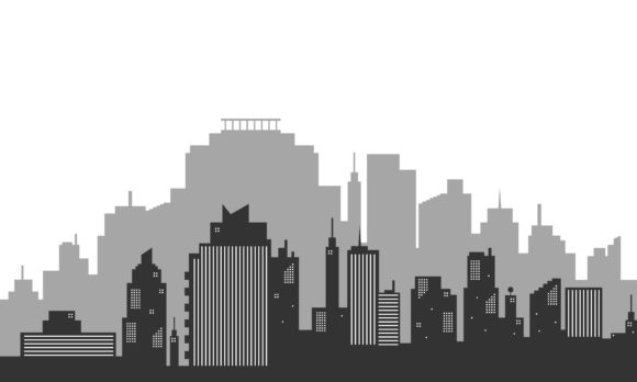 Download Free Silhouette Background City Town Graphic By Cityvector91 for Cricut Explore, Silhouette and other cutting machines.