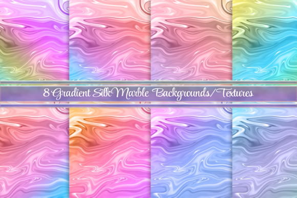 Print on Demand: Silk Swirl Gradient Textured Backgrounds Graphic Backgrounds By AM Digital Designs