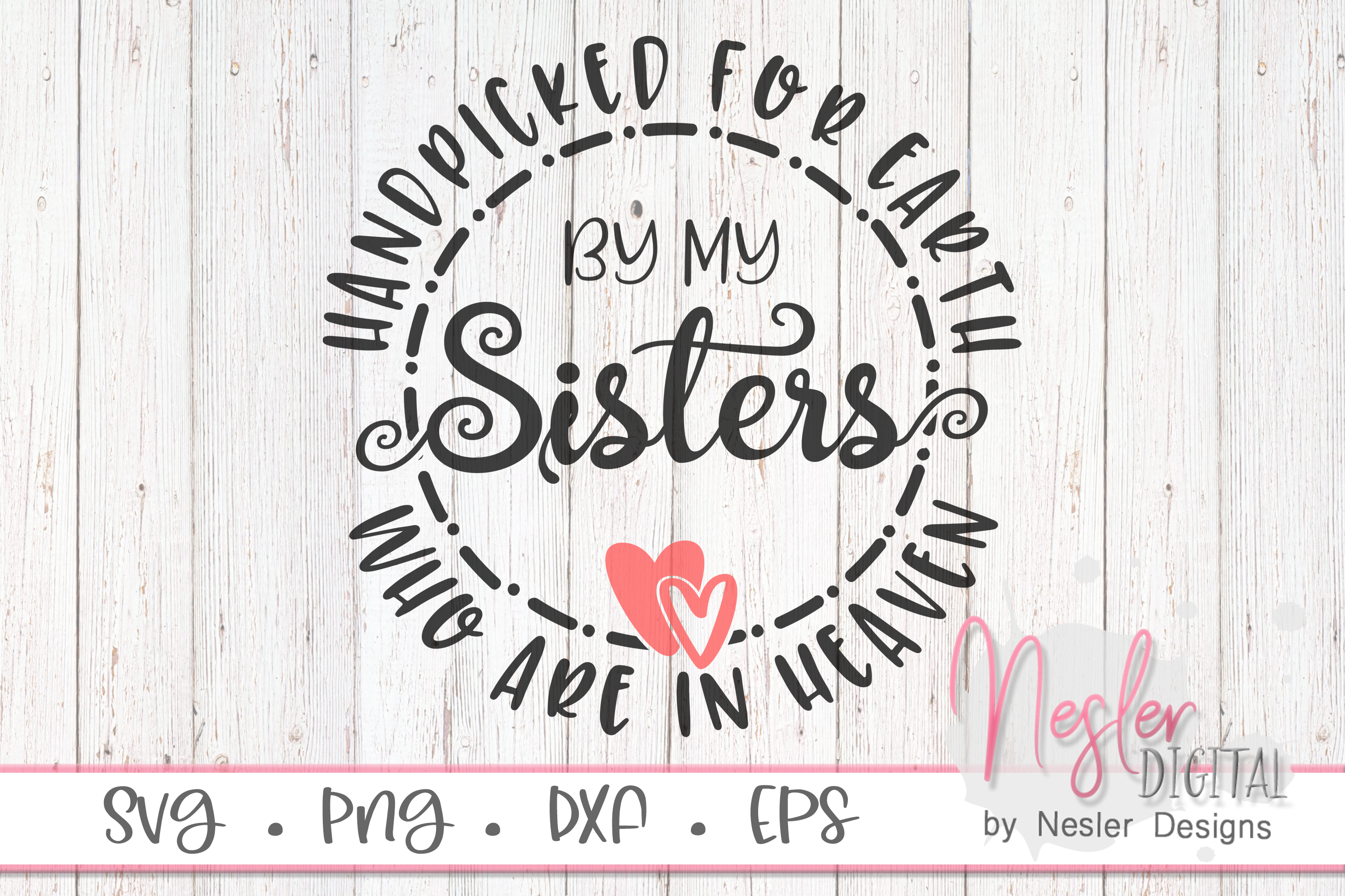 Download Free Sisters In Heaven Graphic By Neslerdigitaldesigns Creative Fabrica for Cricut Explore, Silhouette and other cutting machines.