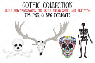 Skulls and Skeleton Graphic Illustrations By My Little Black Heart