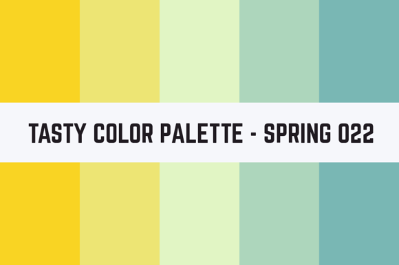 Print on Demand: Solids Tasty Color Palette - Spring 022 Grafik Texturen von RefreshUp