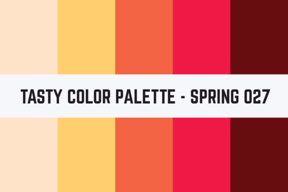 Print on Demand: Solids Tasty Color Palette - Spring 027 Graphic Textures By RefreshUp