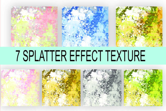 Print on Demand: Splatter Effect Background Texture Graphic Backgrounds By rodesigns