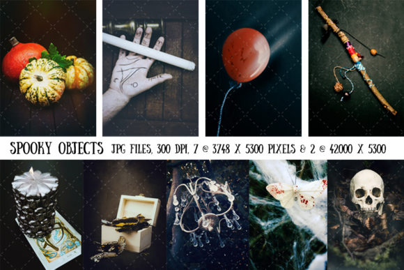 Spooky Objects (Halloween) Graphic Holidays By My Little Black Heart