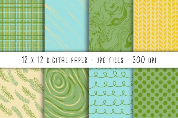 Print on Demand: Spring Fresh Digital Papers Graphic Backgrounds By RoughDraftDesign