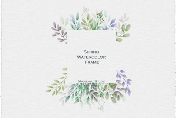 Download Free Spring Watercolor Clip Art Frame Graphic By 3motional Creative Fabrica for Cricut Explore, Silhouette and other cutting machines.