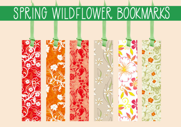 Print on Demand: Spring Wild Flower Bookmarks Graphic Print Templates By capeairforce