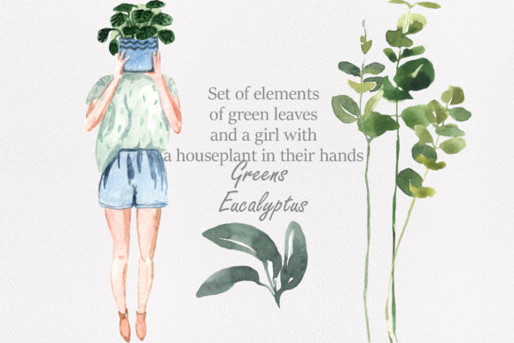 Print on Demand: Spring Greens Graphic Illustrations By laffresco04