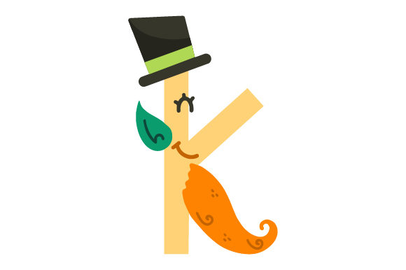 Print on Demand: St Patrick's Alphabet, Letter K Graphic Crafts By Latin Vibes