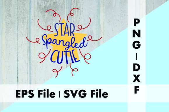 Download Free Star Spangled Cutie Graphic By Deespana Studio Creative Fabrica for Cricut Explore, Silhouette and other cutting machines.