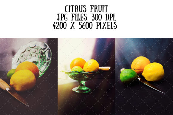 Stylish Citrus Fruit Graphic Food & Drinks By My Little Black Heart