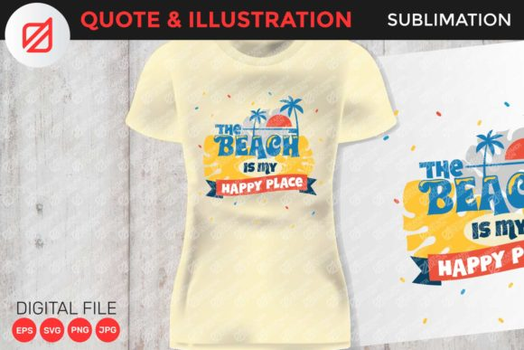 Print on Demand: Summer Quote Print and Sublimation Graphic Crafts By illusatrian