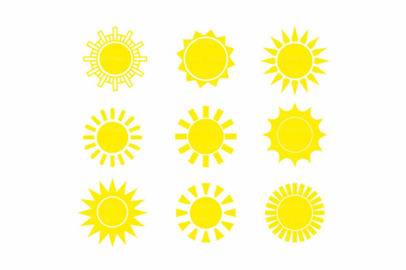 Print on Demand: Sun Clipart Graphic Crafts By SVG DEN