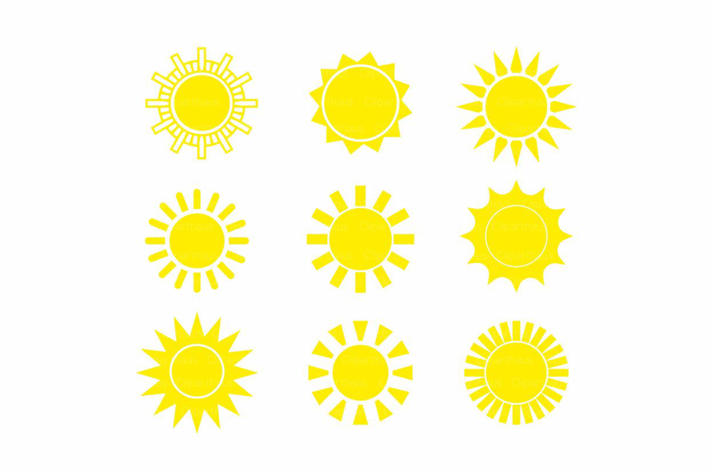 Download Free Sun Clipart Graphic By Svg Den Creative Fabrica for Cricut Explore, Silhouette and other cutting machines.