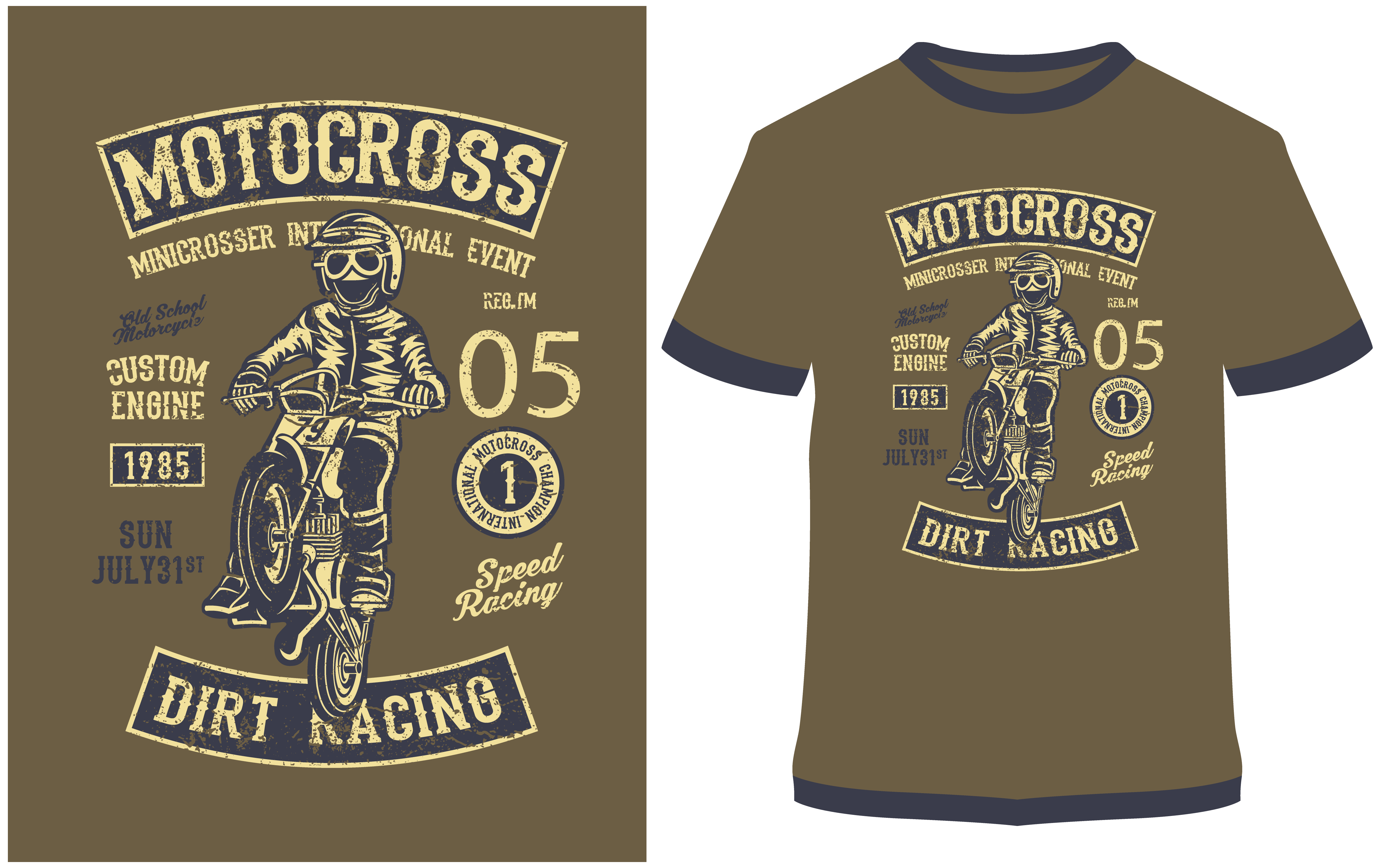 Download Free T Shirt Design Moto Cross Grafico Por Prodesigns Creative for Cricut Explore, Silhouette and other cutting machines.