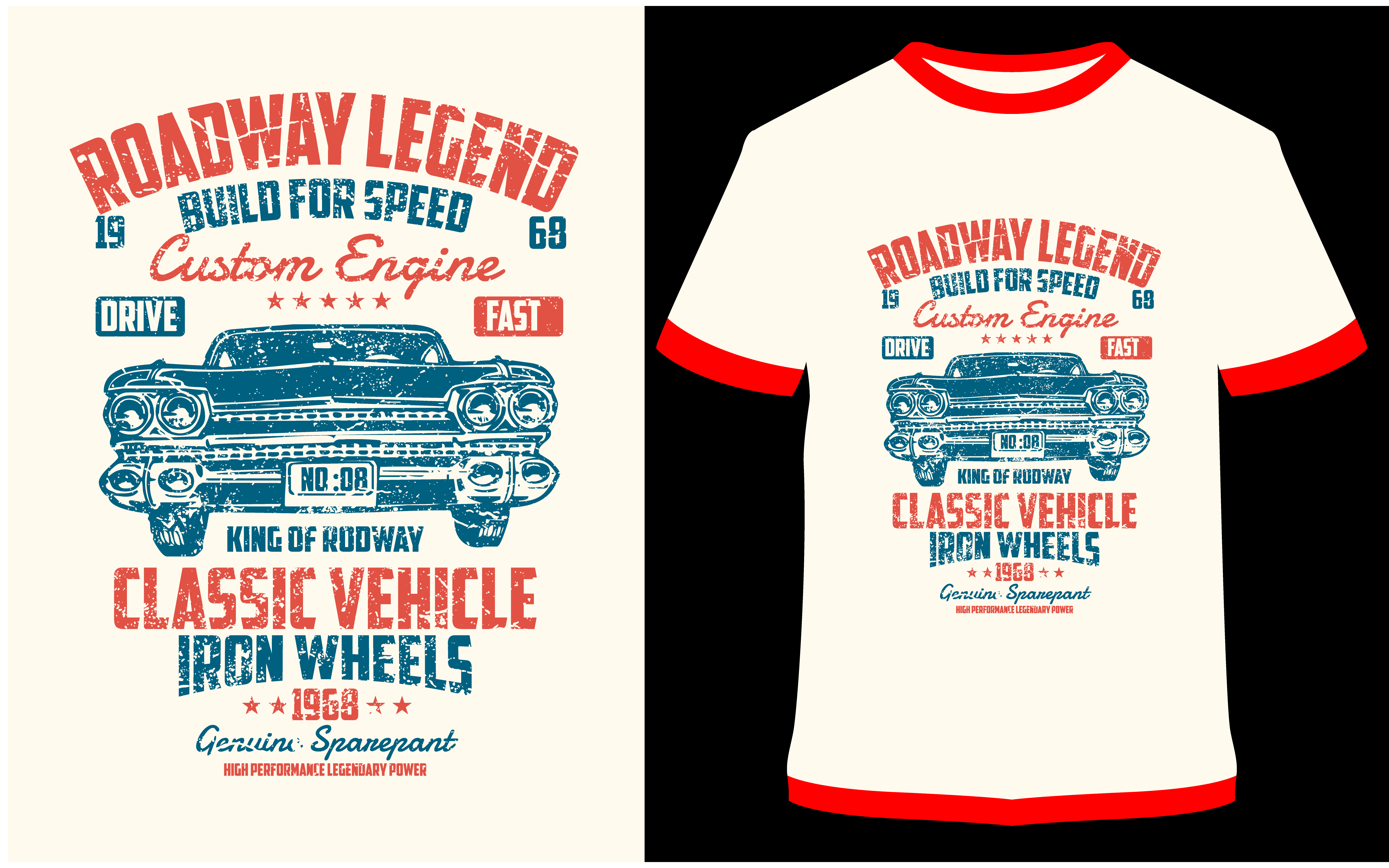 Download Free T Shirt Design Roadway Legend Graphic By Prodesigns Creative for Cricut Explore, Silhouette and other cutting machines.