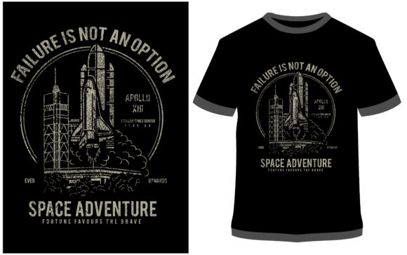 Print on Demand: T-shirt Design - Space Adventure Graphic Print Templates By ProDesigns