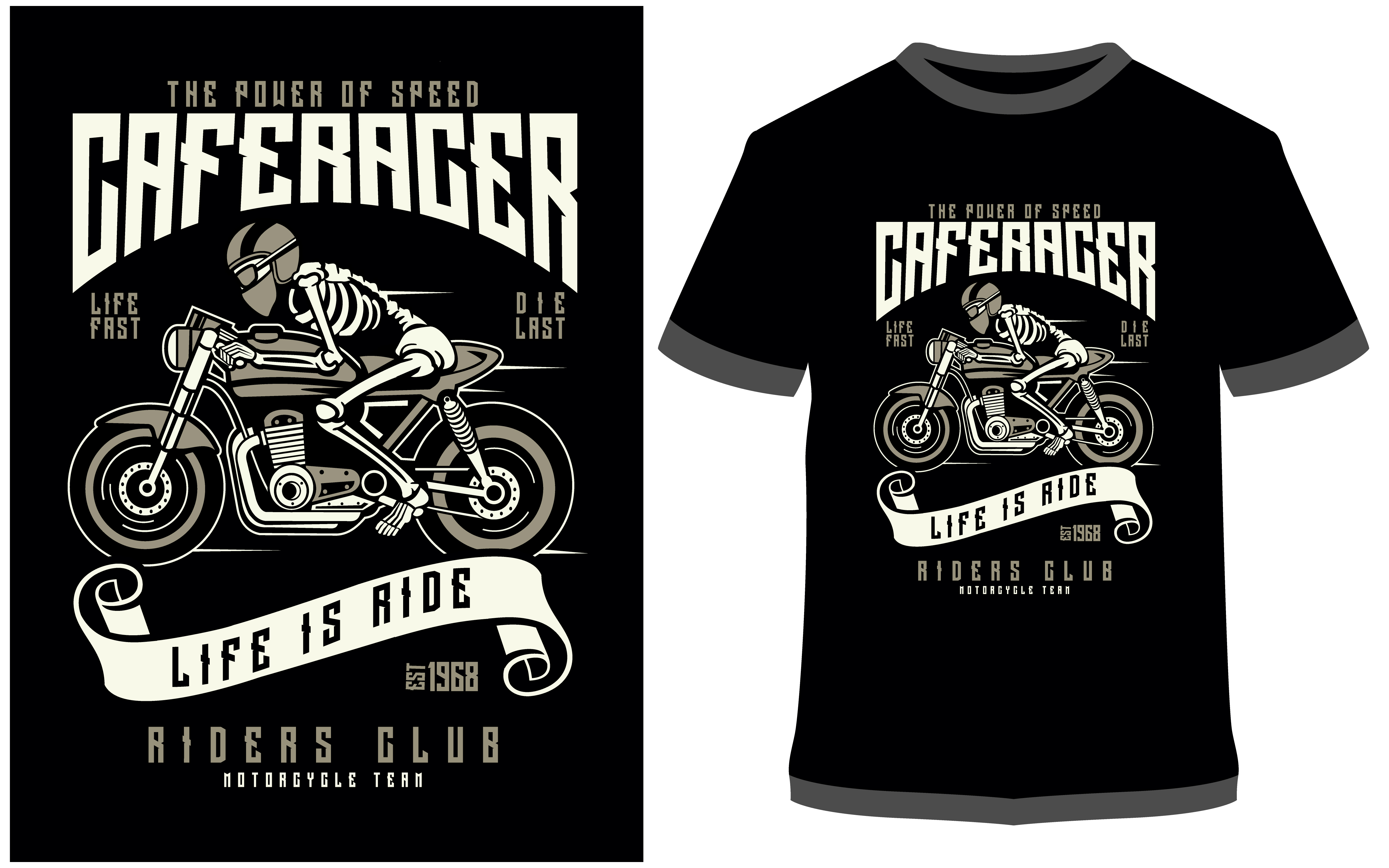 Download Free T Shirt Design Speed Of Caferacer Graphic By Prodesigns for Cricut Explore, Silhouette and other cutting machines.