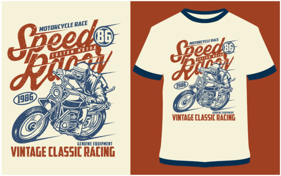 Print on Demand: T-shirt Design - Speed Racer Graphic Print Templates By ProDesigns