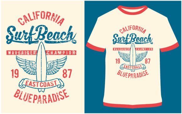 Download Free T Shirt Design Surf Beach Grafico Por Prodesigns Creative Fabrica for Cricut Explore, Silhouette and other cutting machines.