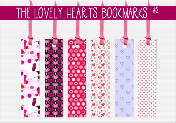 Print on Demand: The Lovely Hearts Bookarks   #2 Graphic Print Templates By capeairforce