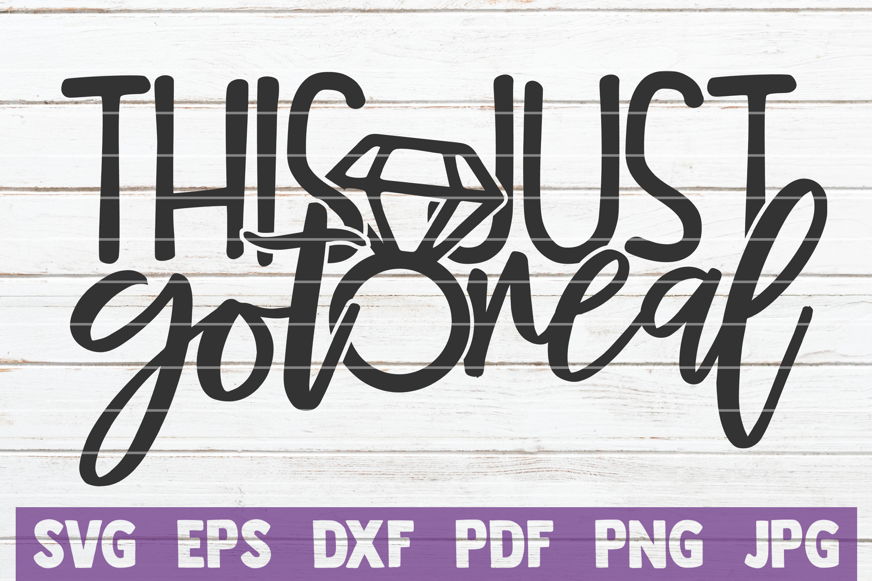 Download Free This Just Got Real Graphic By Mintymarshmallows Creative Fabrica for Cricut Explore, Silhouette and other cutting machines.