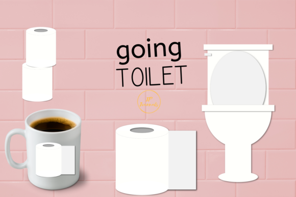 Print on Demand: Toilet Paper and Potty Clip Art Graphic Illustrations By jpjournalsandbooks