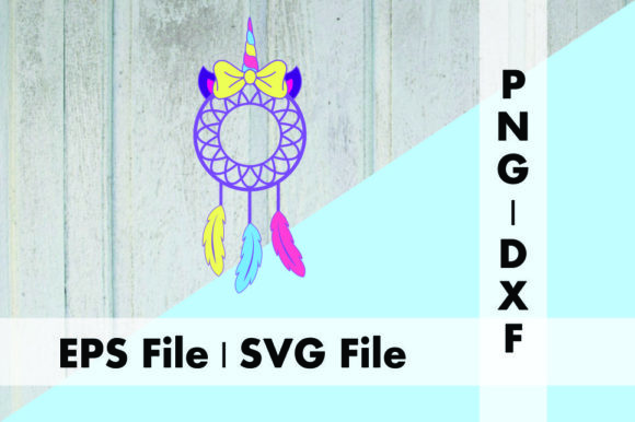 Download Free Unicorn Dreamcatcher With Bow Graphic By Deespana Studio for Cricut Explore, Silhouette and other cutting machines.