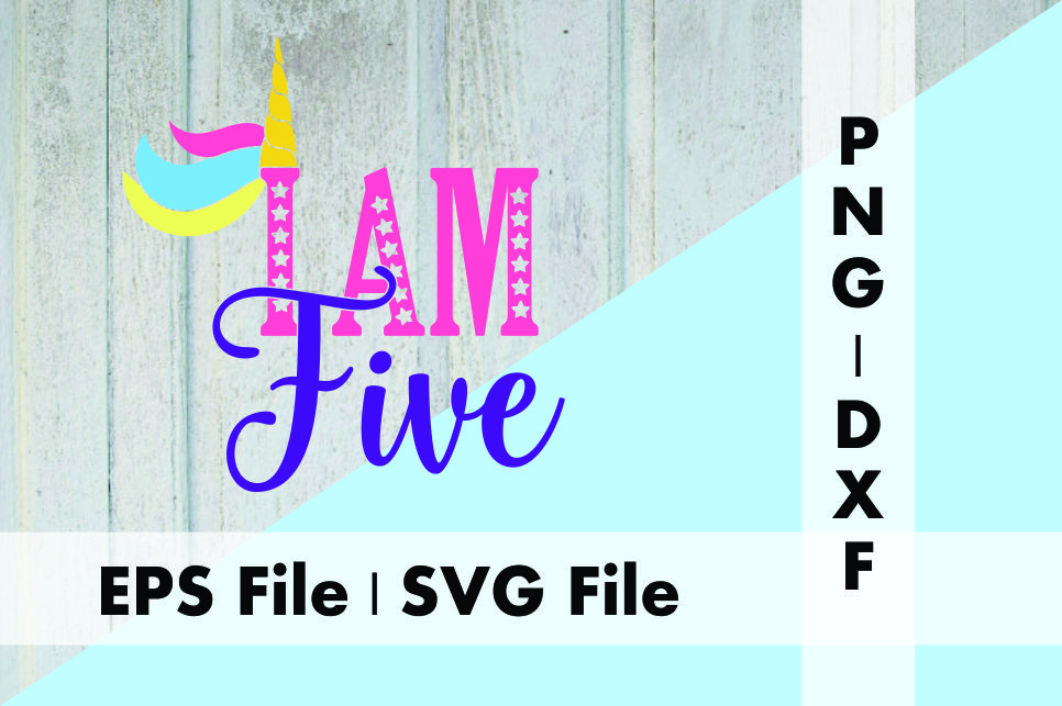 Download Free Unicorn I Am Five Graphic By Deespana Studio Creative Fabrica for Cricut Explore, Silhouette and other cutting machines.