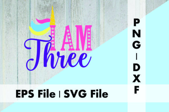 Download Free Unicorn I Am Three Graphic By Deespana Studio Creative Fabrica for Cricut Explore, Silhouette and other cutting machines.