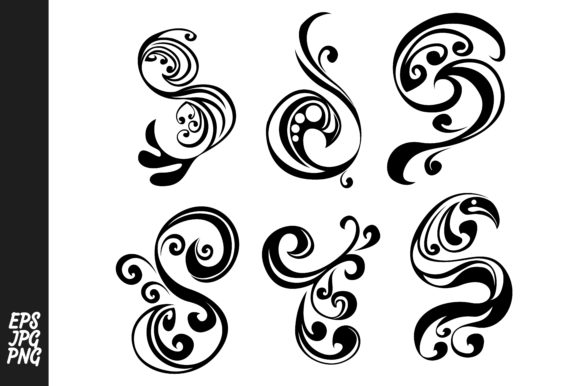 Download Free Vector Swirl Decoration Elements Bundle Graphic By Arief Sapta for Cricut Explore, Silhouette and other cutting machines.